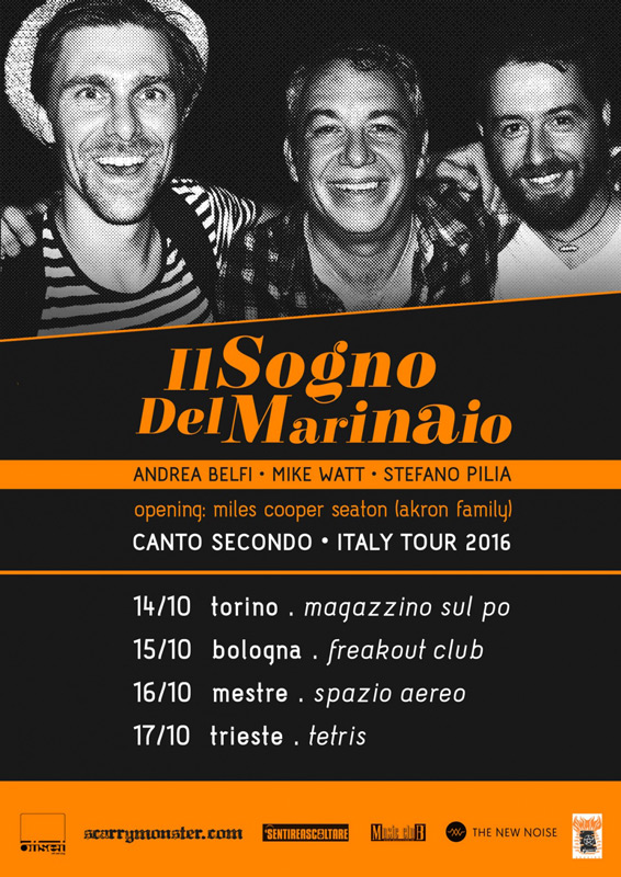 Tour flyer, Il Sogno Di Marinaio / Scarrymonster   © Juliane Schütz